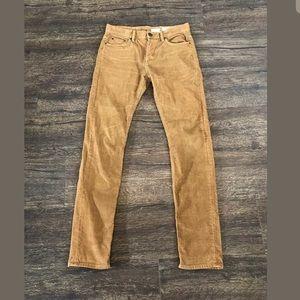 All Saints Corduroy Cigarette Skinny Jeans Size 28